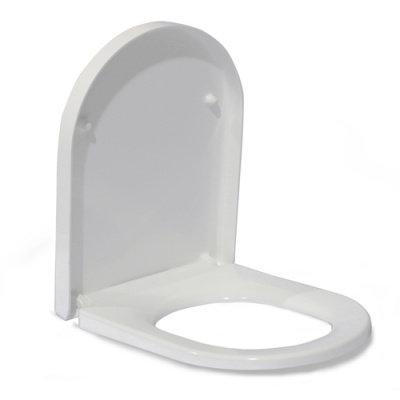 В2380Sа сиденье для унитаза дюропласт с микролифтом, белое MELANA