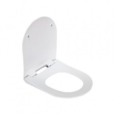 2013S сиденье для унитаза дюропласт с микролифтом, белое MELANA