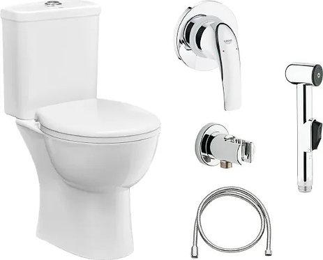 Комплект Унитаз-компакт Grohe Bau Ceramic 39429000 + Гигиенический душ Grohe