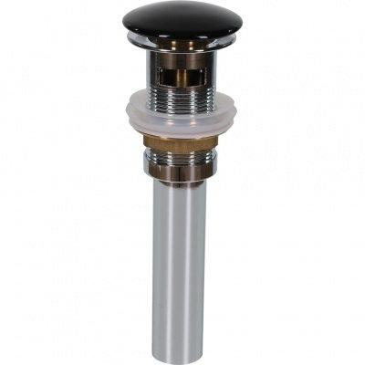 Донный клапан с переливом (черный) T201B