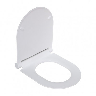 2197S сиденье для унитаза дюропласт с микролифтом, белое MELANA