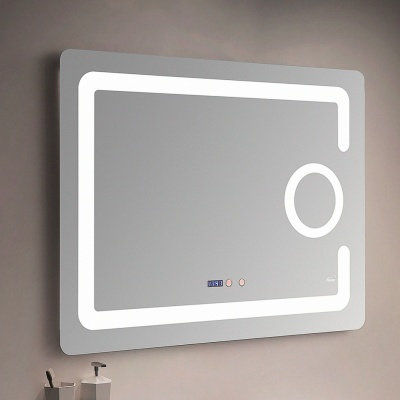 Зеркало с LED-подсветкой MELANA-8060 подогрев/часы/космет.зеркало (MLN-LED091)
