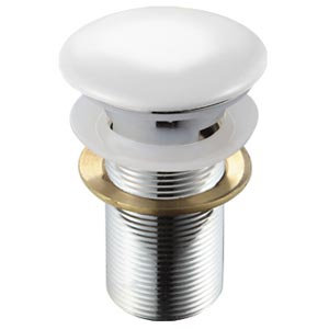 Донный клапан без перелива (белый) MLN-TB20-1