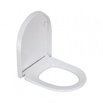 2115S сиденье для унитаза дюропласт с микролифтом, белое MELANA