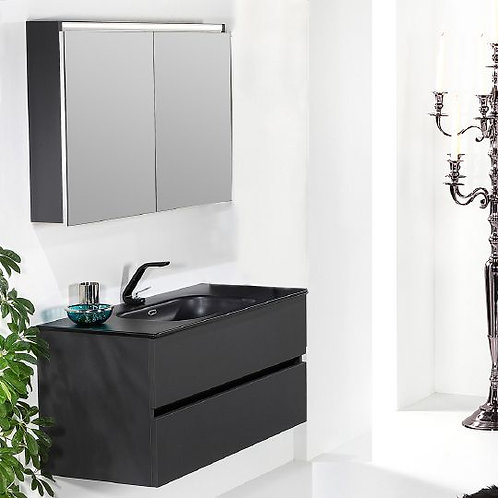 Мебель для ванной Armadi Art Vallessi 100 антрацит матовая