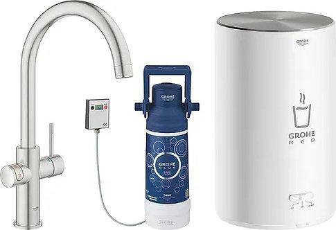 Смеситель Grohe Red II Duo 30083DC1 для кухонной мойки, с водонагревателем