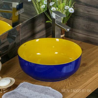 Раковина MELANA MLN-T4003-B1+B6 (сине-желтая)
