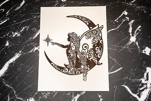 Wall Display - Fairy on the Moon
