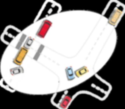 highway collision illustration