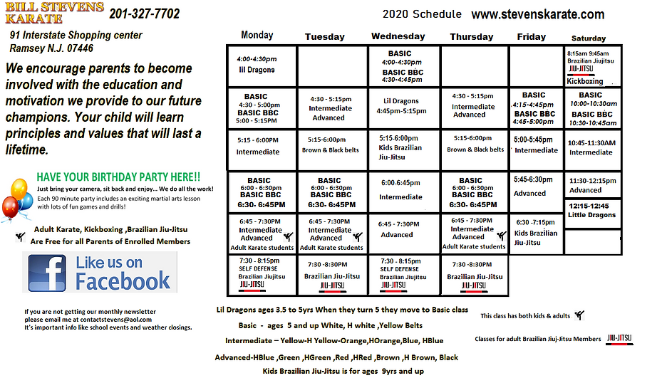 Ramsey Nj Karate 2020 schedulecc.png