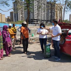 Rashan Donate to Footpath people from Borivali highway to Godhbander.