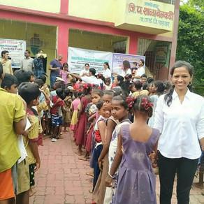 We did a Charity program with 600 Adivasi Children at Belkadi Village in Vasai on 20 July 2019.