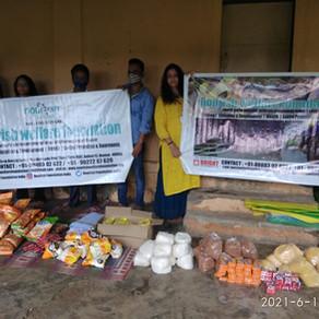 Relief to poor Adivasi people and children.