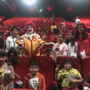 Successful Event at Juhu PVR with 200 kids Free show with fun and goodies.