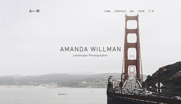 Photography website templates – Landscape Photography