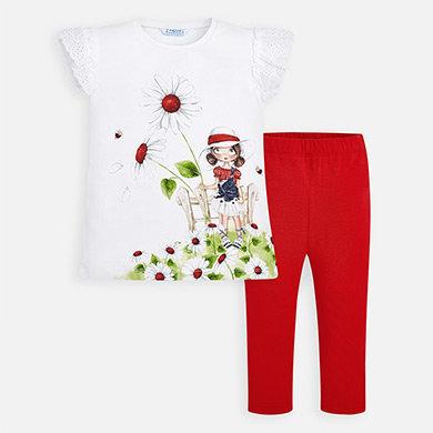 Conjunto leggins blusa flores frontal