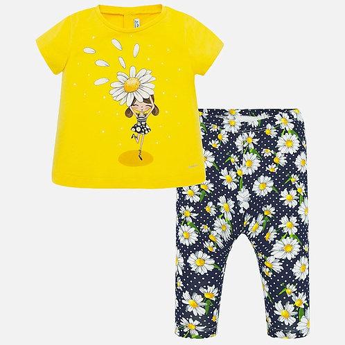 Conjunto leggins camiseta flor frontal