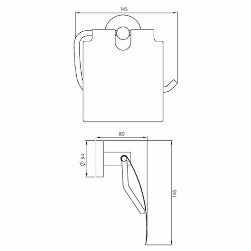Accesorios de Baño porta papel Línea Ozka Plano Técnico