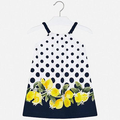 Vestido pepones y limones frontal