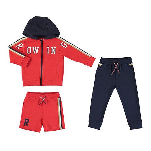 Sudadera dos pantalones rowing rojo