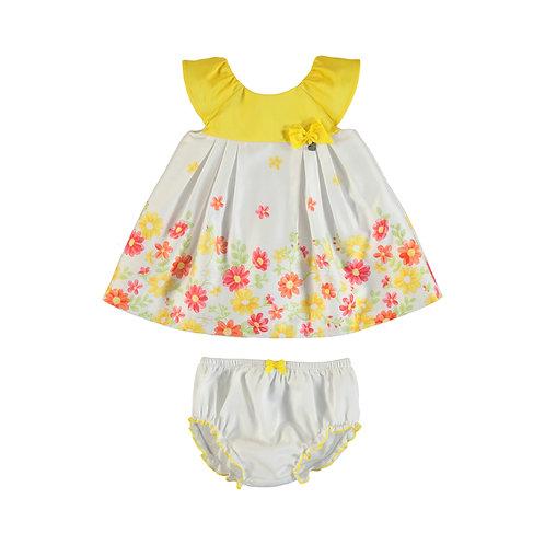 Vestido falda flores amarillo general