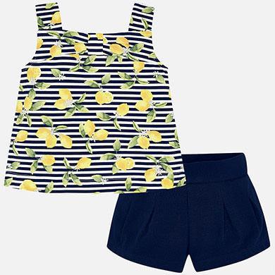 Conjunto short blusa limones frontal