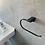 Accesorios de Baño toallero aro Línea Dessin Negro Mate ambiente