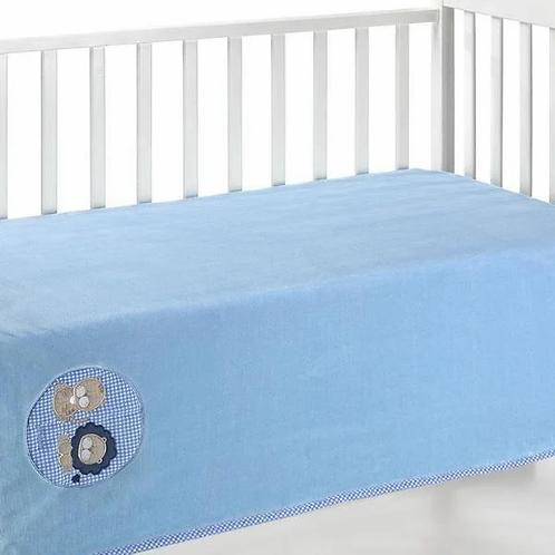 Cobija térmica para bebé dolcce baby azul extendida