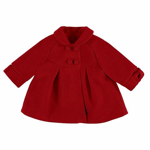 Abrigo paño 4 botones rojo