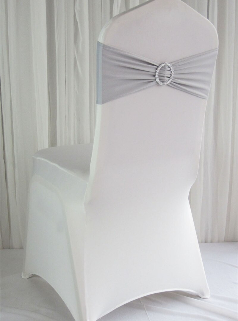 DOVE GREY LYCRA SASH