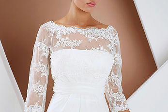 E132__FRONT FACING LACE JACKET WITH THRE