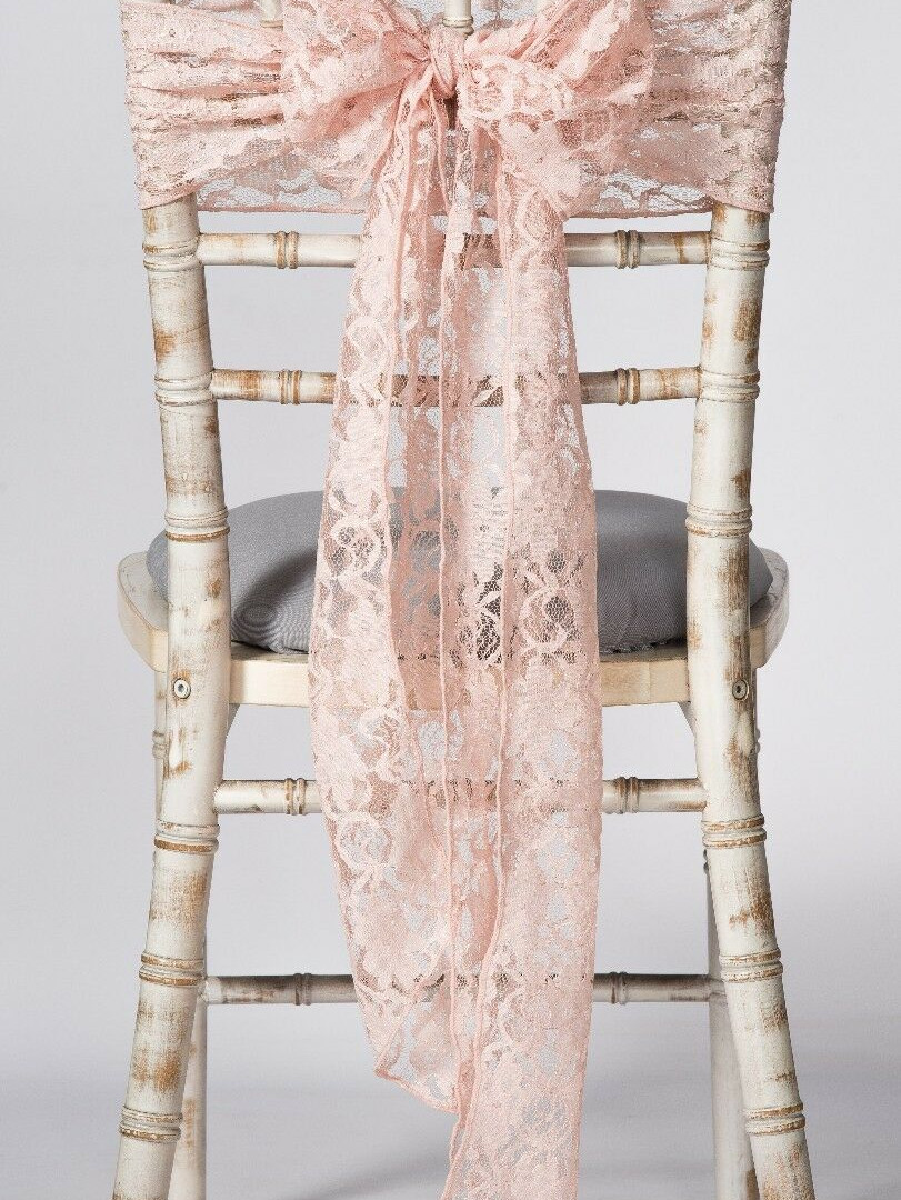 BLUSH LACE SASH