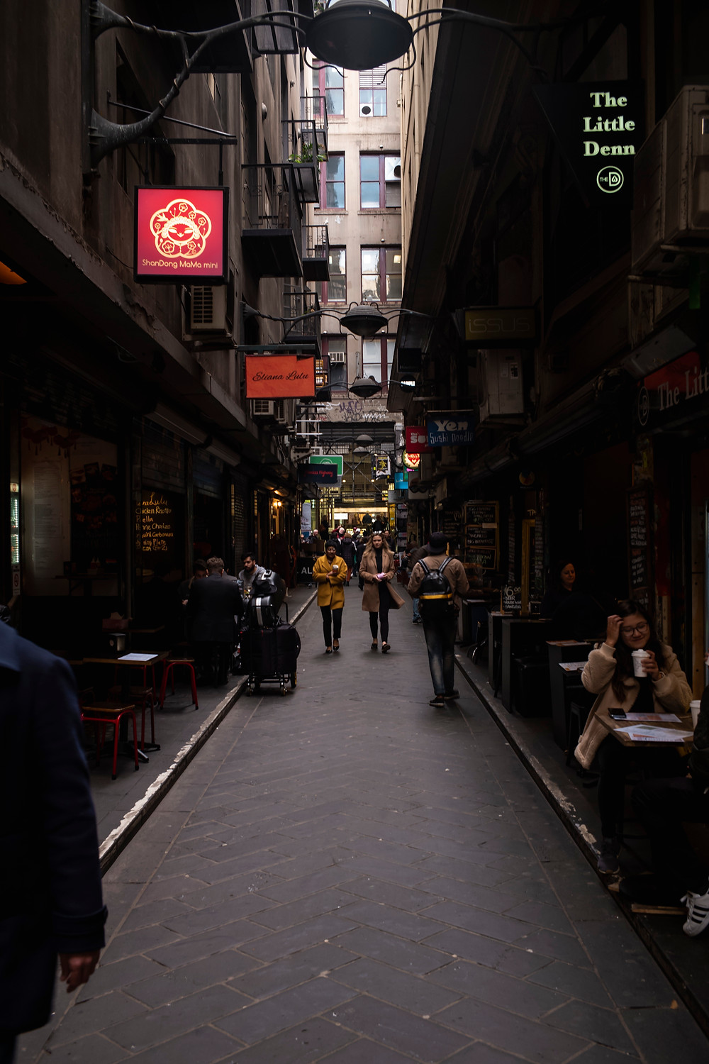 Lanes in Melbourne are full of fantastic Cafe and Restaurants.