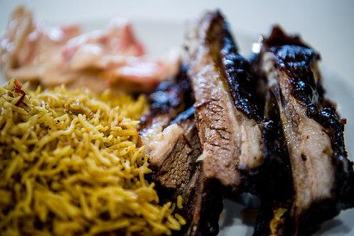 Half Ribs with Rice & Salad