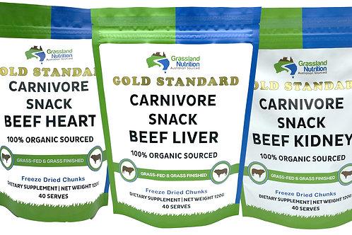 Organ Meat Bundle Liver Kidney & Heart 3 Pack