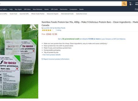 Les aliments Nutribox : Maintenant sur Amazon.ca