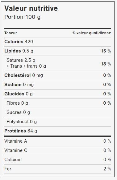 Protéines de pois (fermentées) - 330g