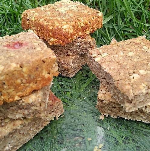 La p'tite vite - Barres déjeuner protéinées fraises rhubarbe (6)