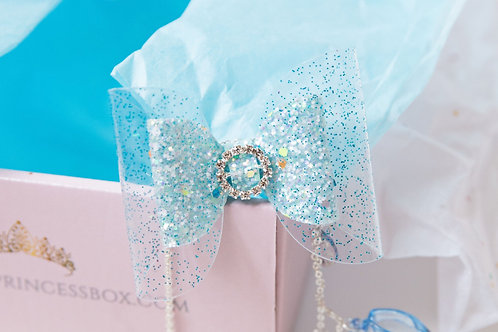 Blue Cinderella Inspired Hairbow