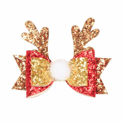 Sparkly Reindeer Hair Clip