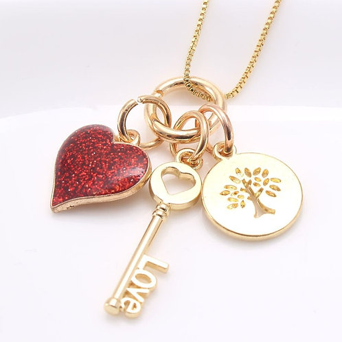 """Key to my Heart"" Necklace"