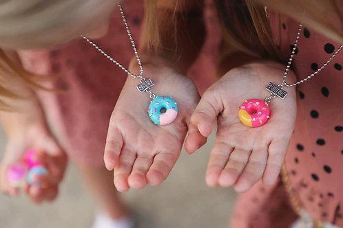 Best Friends Donut Necklace