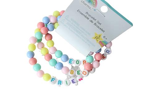 Friendship & Charm 3pc Friendship Bracelets