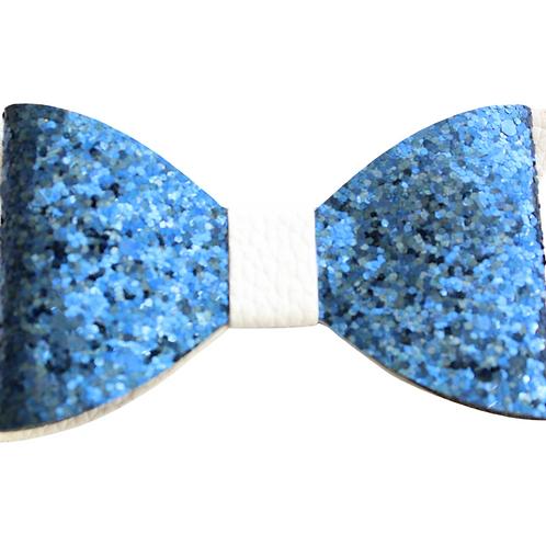 Blue Sparkly Hair Bow