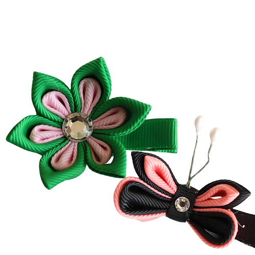 Set of Two Mini Hair Clips