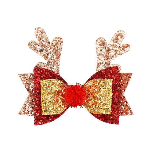 Sparkly Reindeer Hairclip