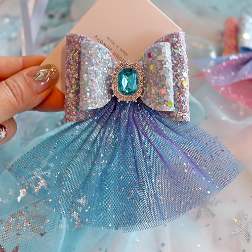 Elsa Inspired Jewel Hairbow