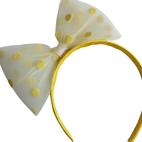 XL Yellow Bow Headband