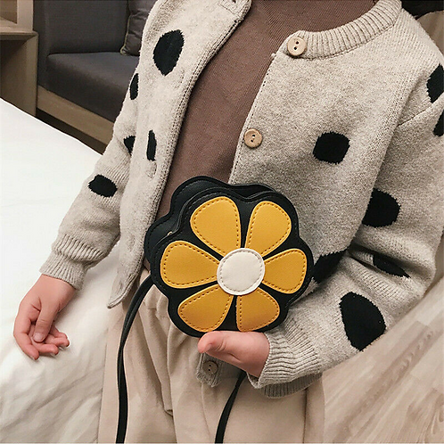 Yellow Sunflower Crossbody Bag