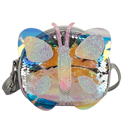 Sparkly Butterfly Crossbody Bag